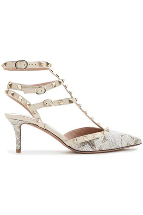 VALENTINO GARAVANI Rockstud embellished leather pumps