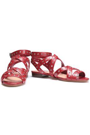VALENTINO GARAVANI Eyelet-embellished leather sandals