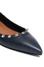 VALENTINO GARAVANI Studded pebbled-leather point-toe flats