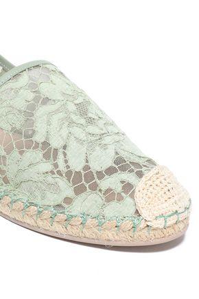 VALENTINO GARAVANI Corded lace slip-on espadrilles