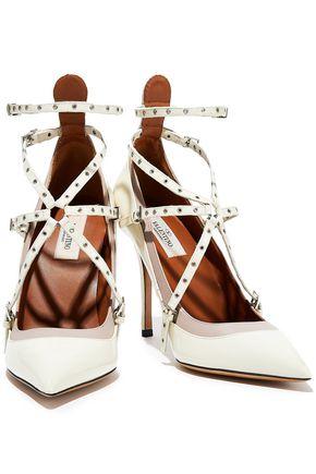 VALENTINO GARAVANI Love Latch smooth and patent-leather pumps