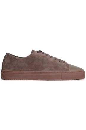 AXEL ARIGATO Suede and leather sneakers