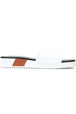 LOEWE Logo-embossed leather slides