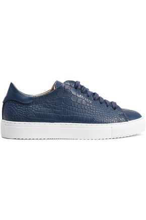 AXEL ARIGATO Croc-effect leather sneakers