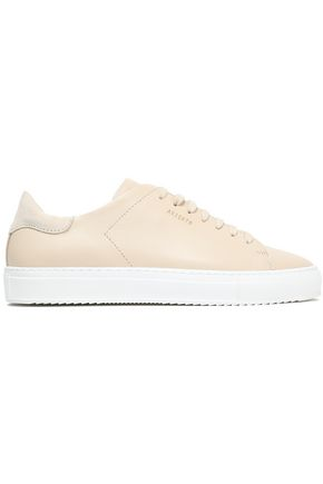 AXEL ARIGATO Clean 90 suede-trimmed leather sneakers