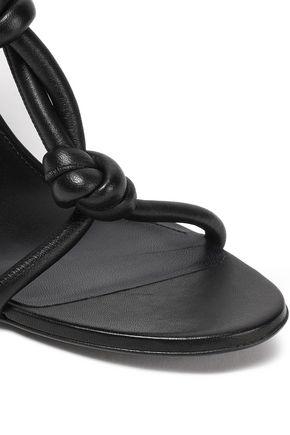 JIL SANDER Knotted leather sandals