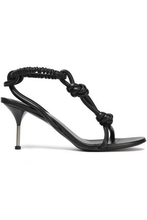 JIL SANDER Knotted leather sandals