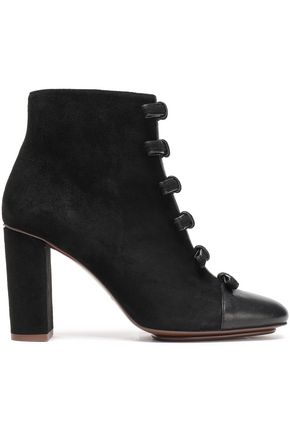SEE BY CHLOÉ Gisele bow-embellished suede ankle boots