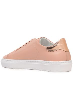 AXEL ARIGATO Tennis metallic-trimmed leather sneakers
