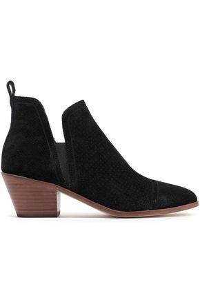 SIGERSON MORRISON Belle laser-cut suede ankle boots