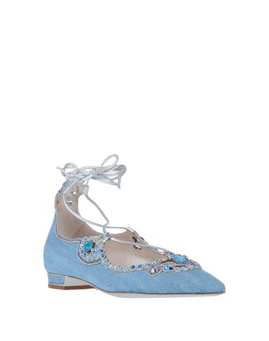 Фото 2 - Женские балетки  синего цвета