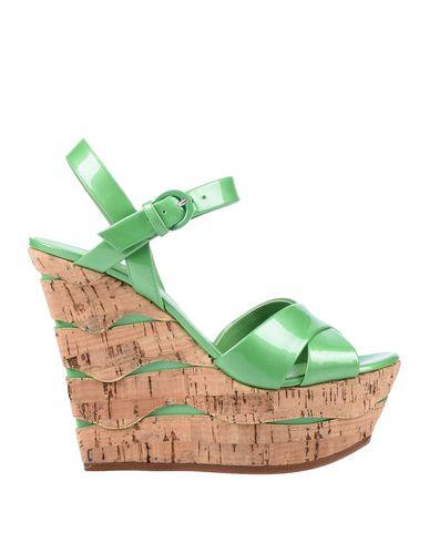 Фото - Женские сандали  зеленого цвета