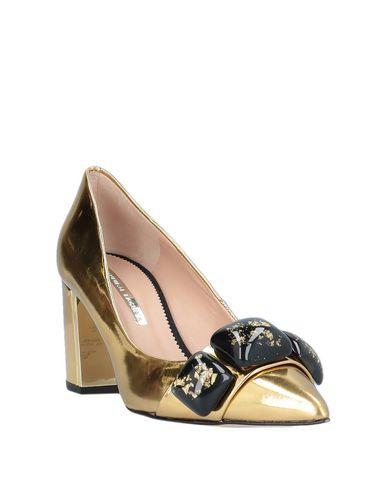 Фото 2 - Женские туфли HANNIBAL LAGUNA золотистого цвета
