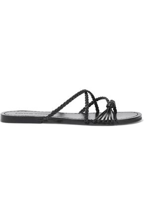 SIGERSON MORRISON Brock knotted braided leather sandals