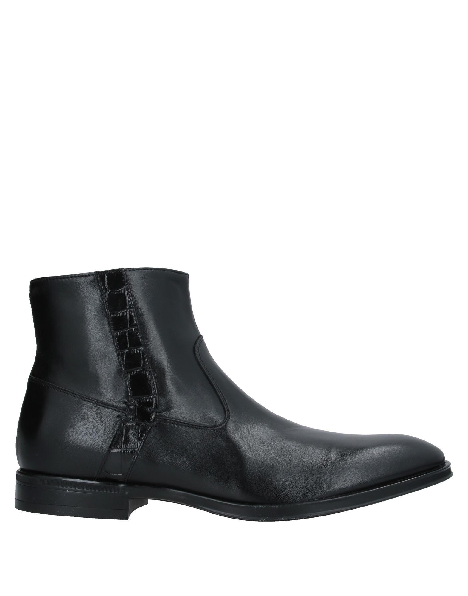 《セール開催中》GIOVANNI CONTI メンズ ショートブーツ ブラック 45 革