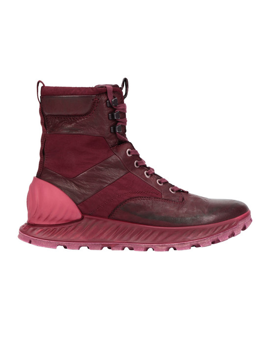 STONE ISLAND S0695 GARMENT DYED LEATHER EXOSTRIKE BOOT CON DYNEEMA® SHOE Man Dark Burgundy