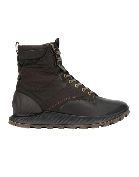 STONE ISLAND S0695 GARMENT DYED LEATHER EXOSTRIKE BOOT CON DYNEEMA® SHOE Man Olive Green