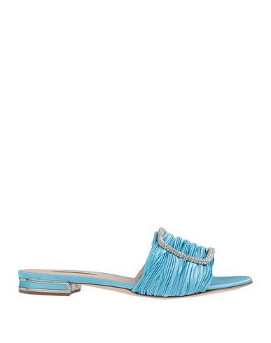 Фото - Женские сандали  небесно-голубого цвета