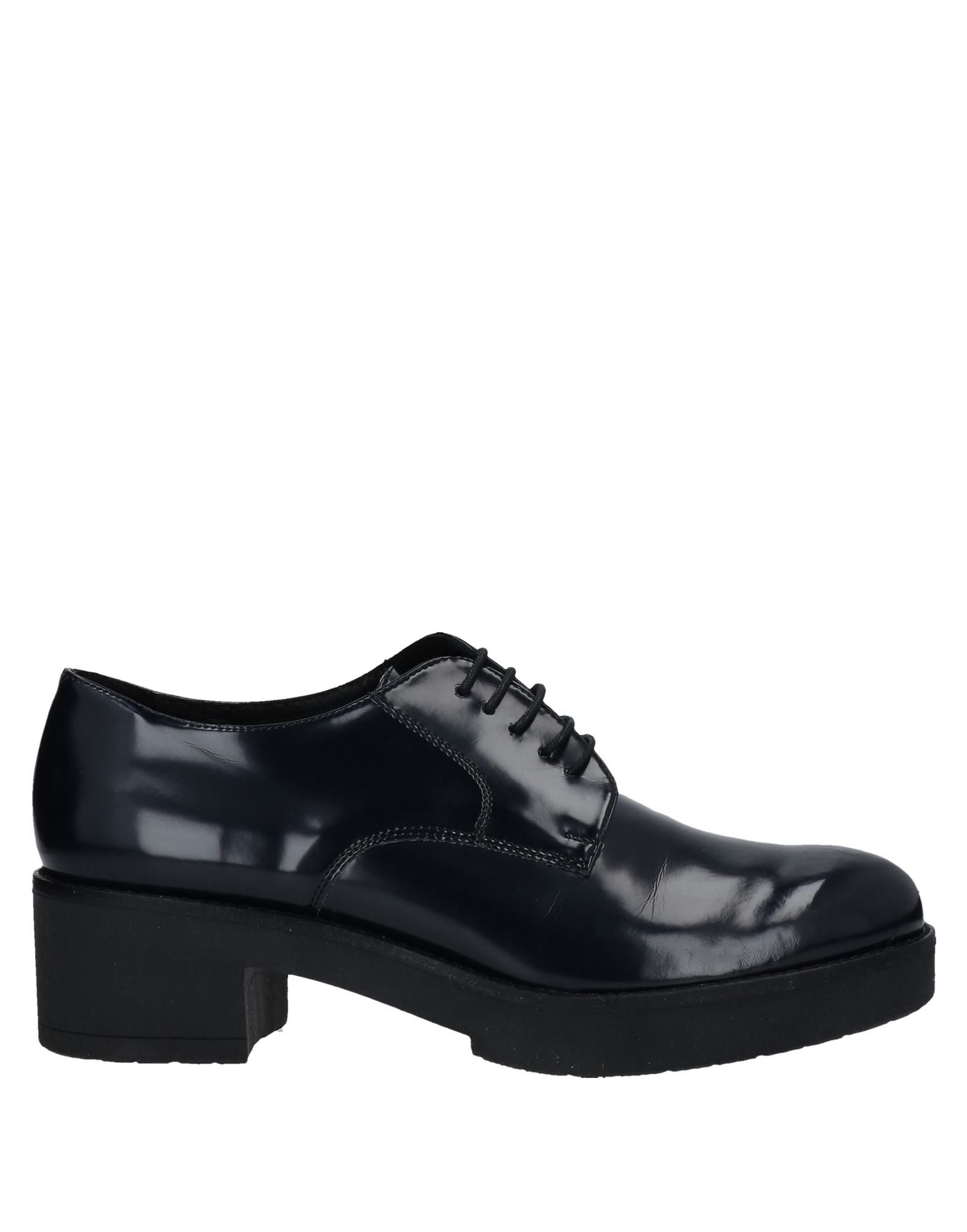 Geste Proposition Lace-up Shoes In Dark Blue