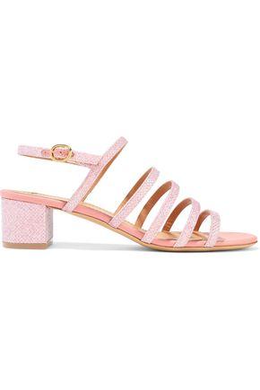 MANSUR GAVRIEL Glittered woven slingback sandals