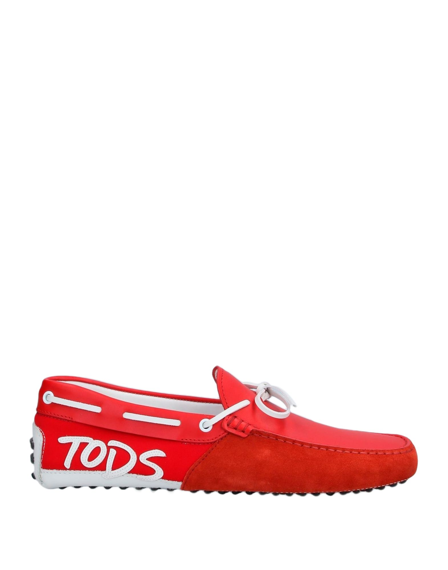 《セール開催中》TOD'S メンズ モカシン レッド 10.5 革