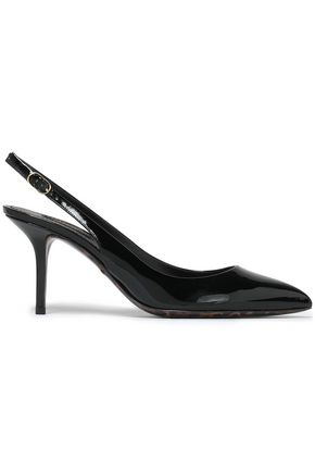DOLCE & GABBANA Patent-leather slingback pumps