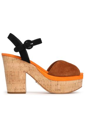 PRADA Color-block suede platform sandals