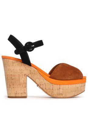 PRADA Color-block suede platform sandals