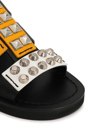 PRADA Cutout studded leather sandals