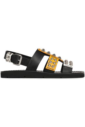 PRADA Cutout studded leather sandals