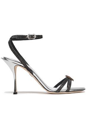 DOLCE & GABBANA Appliquéd woven sandals