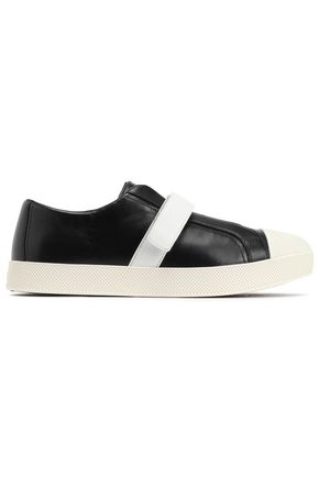 PRADA LINEA Leather and rubber sneakers