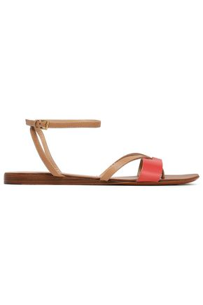 HALSTON HERITAGE Karmen two-tone leather sandals