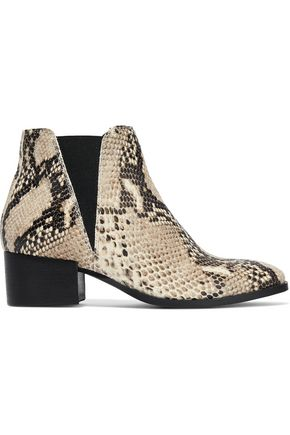 IRIS & INK Savea snake-effect leather ankle boots