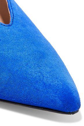 IRIS & INK Karrigan suede slingback point-toe flats