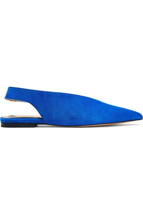 IRIS & INK Karrigan suede slingback point-toe flats