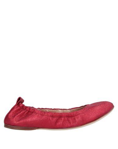 Фото - Женские балетки 18 KT красного цвета