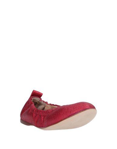 Фото 2 - Женские балетки 18 KT красного цвета