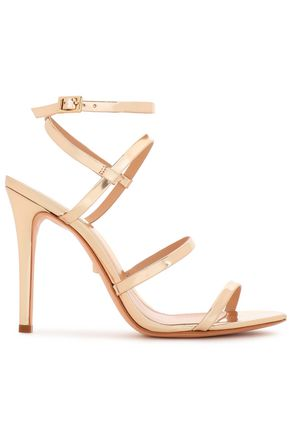 SCHUTZ Ilara mirrored-leather sandals