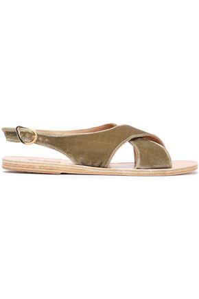 ANCIENT GREEK SANDALS Maria velvet slingback sandals