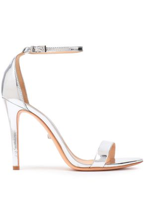 SCHUTZ Metallic-leather sandals