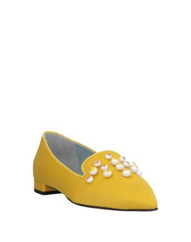 Фото 2 - Женские балетки CHIARA FERRAGNI желтого цвета