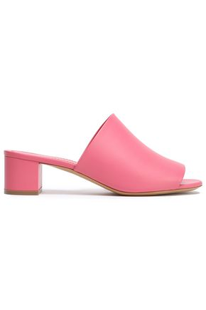 MANSUR GAVRIEL Mirrored-leather mules