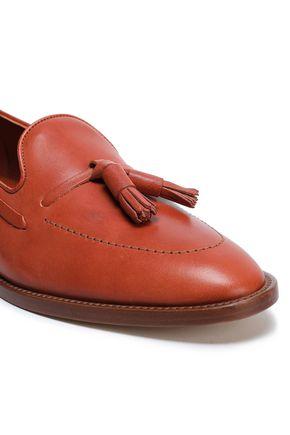 MANSUR GAVRIEL Tassel-trimmed leather loafers