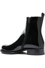 ANN DEMEULEMEESTER Patent-leather ankle boots