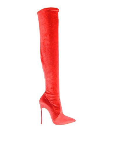 Фото - Женские сапоги  красного цвета