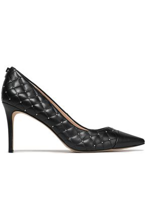 DKNY Studded quilted leather pumps