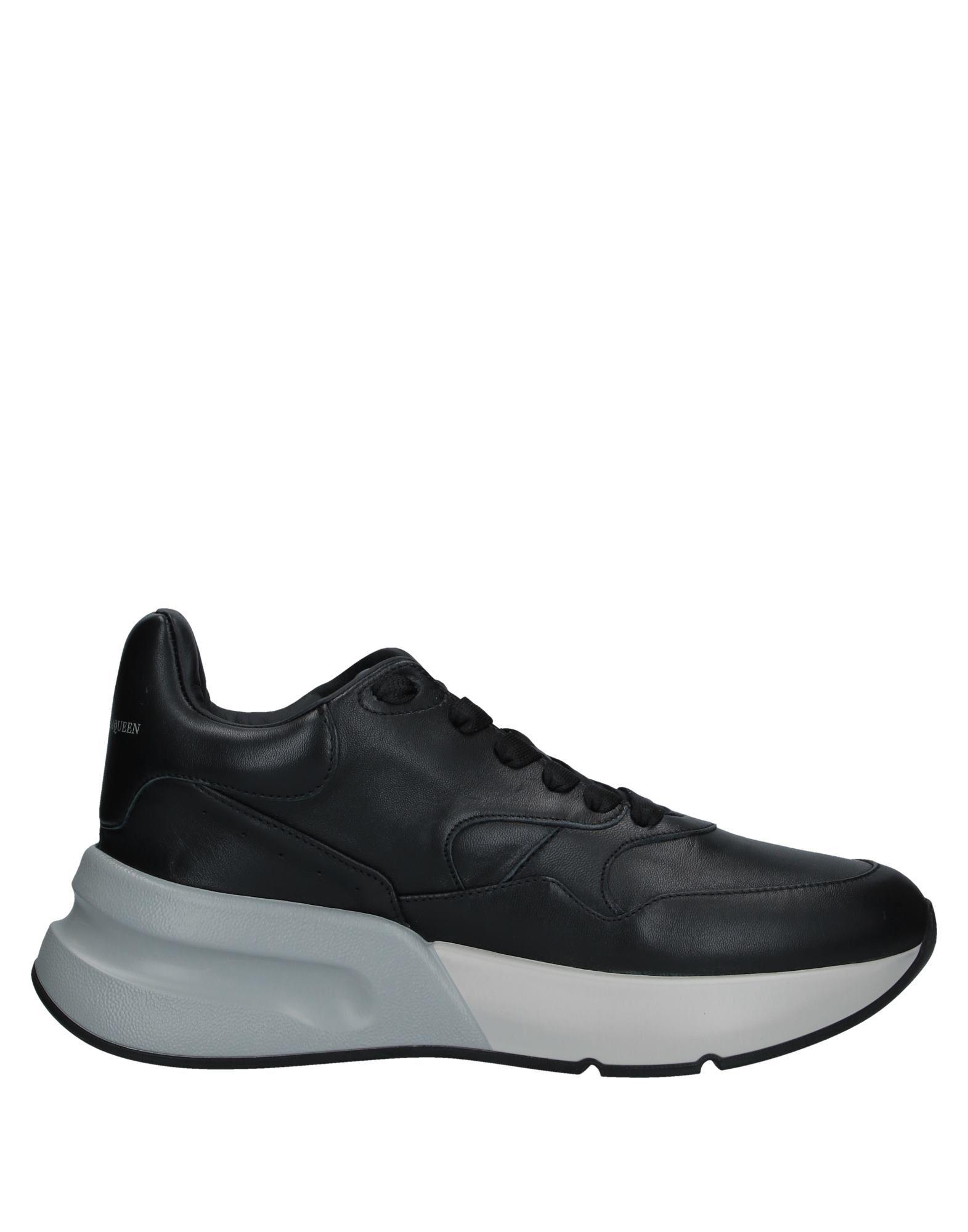 《送料無料》ALEXANDER MCQUEEN メンズ スニーカー&テニスシューズ(ローカット) ブラック 39.5 革