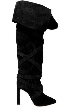 SAINT LAURENT Meurice suede knee boots