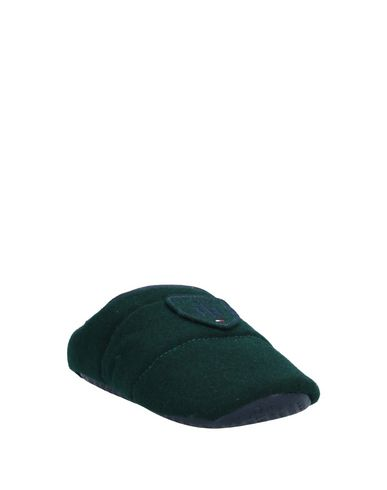 Фото 2 - Домашние туфли темно-зеленого цвета